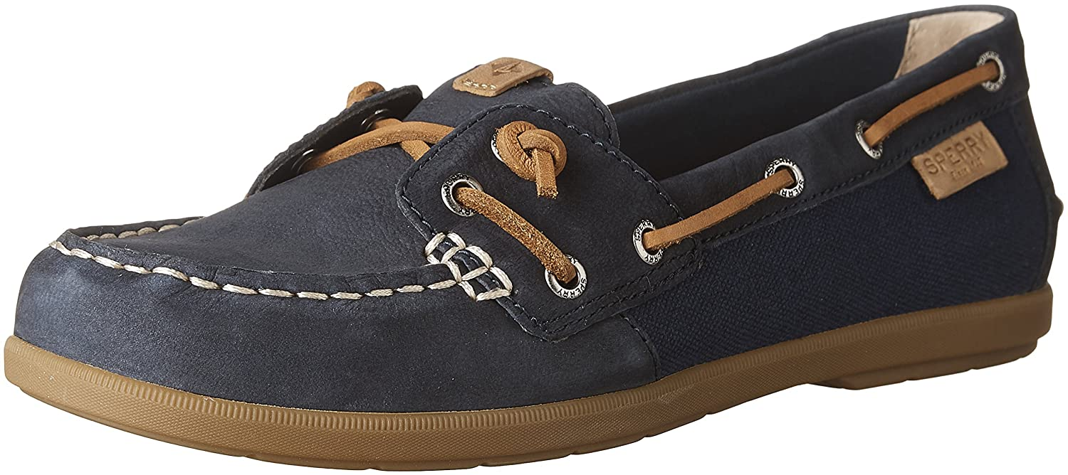 Sperry Top-Sider Women's Coil Ivy Leather/Canvas Boat Shoe B01FWUNTIW 7 B(M) US|Navy