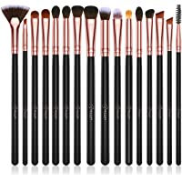 BESTOPE Eye Makeup Brush Set, 16 Pieces Professional Makeup Brushes, Eye Shadow, Concealer, Eyebrow, Foundation, Powder Liquid Cream Blending Brush Set with Premium Wooden Handles
