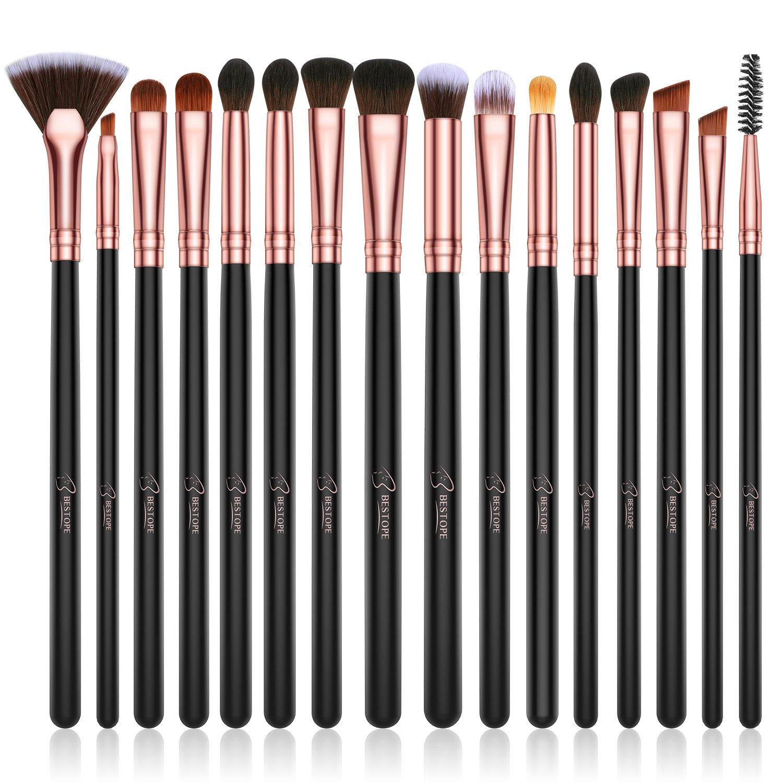 f8aa7ec17474 BESTOPE Eye Makeup Brush Set, 16 Pieces Professional Makeup Brushes, Eye  Shadow, Concealer, Eyebrow, Foundation, Powder Liquid Cream Blending Brush  ...