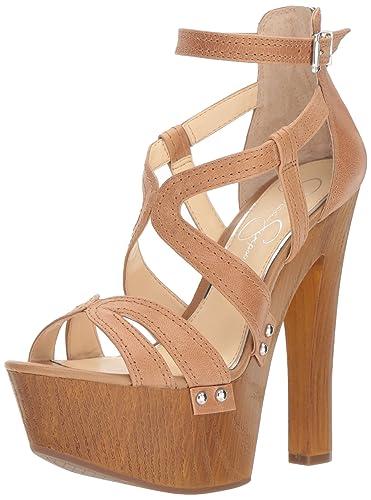78b9b06573c6 Jessica Simpson Women s DORRIN Heeled Sandal Buff 10 Medium US