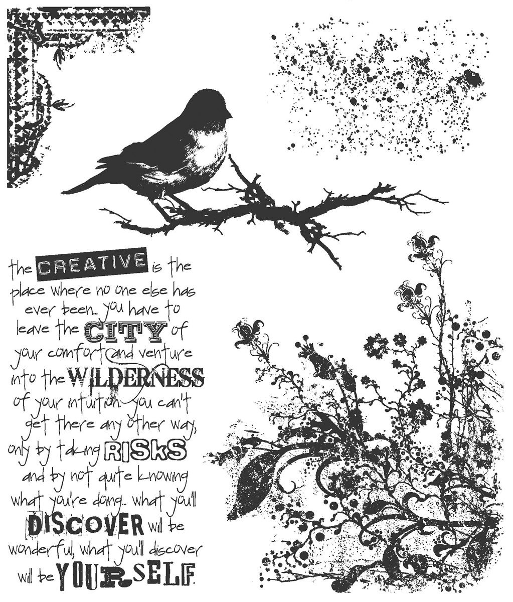 Tim Holtz Cling Stamps 7''x8.5''-urban Tapestry