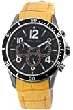 Police pl-12738jsus/02 A Watch – For Men, Leather Strap Yellow