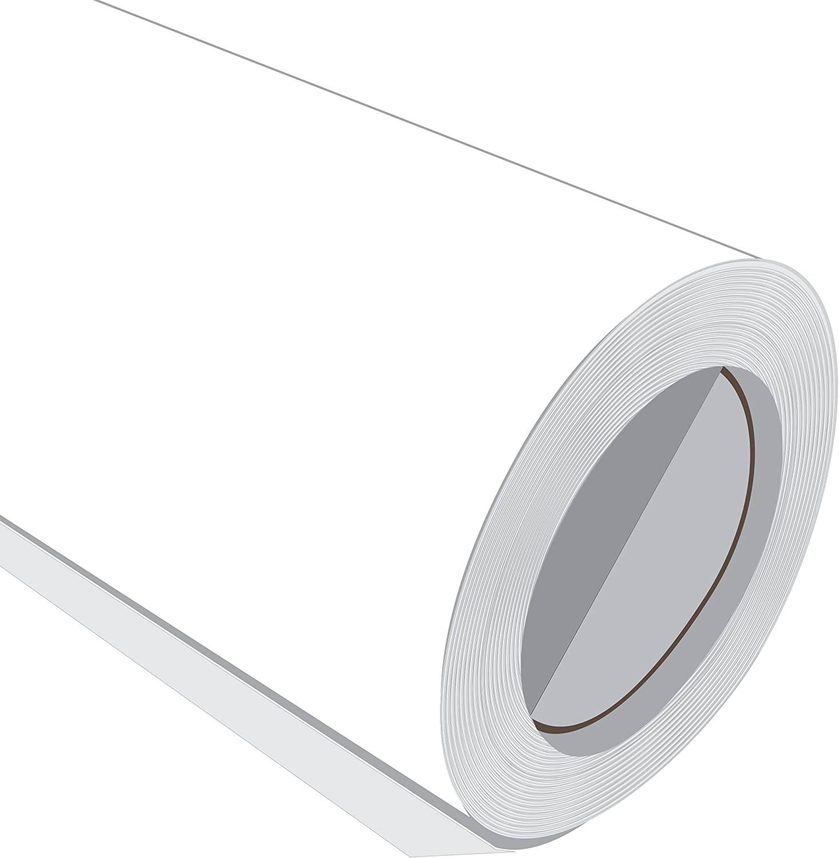 10 Metre (10 m) rollo de HD color blanco brillante 610 mm de ancho Vinilo autoadhesivo: Amazon.es: Hogar