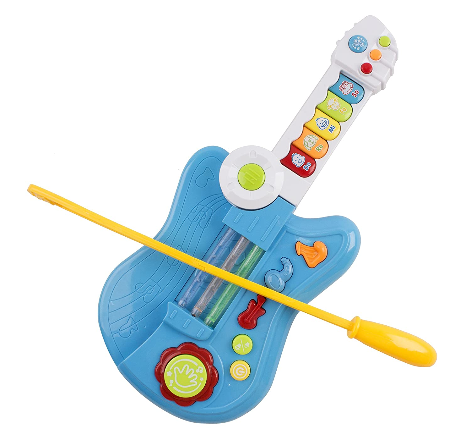 Toy Guitar Battery 3 In 1 Electric Kids Guitar Toy With Violin