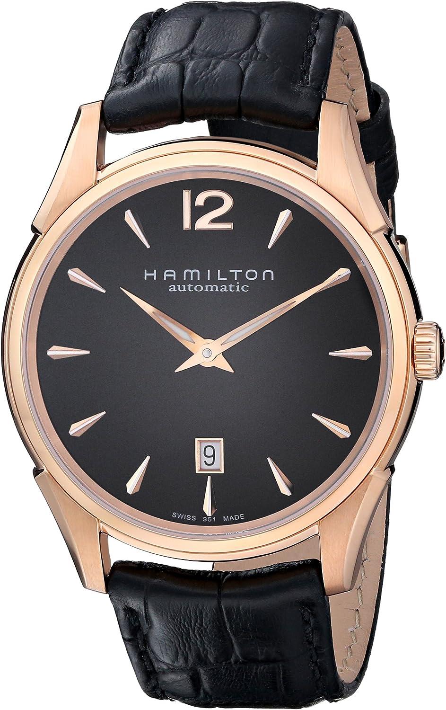Hamilton Men s H38645735 Jazzmaster Slim Black Dial Watch