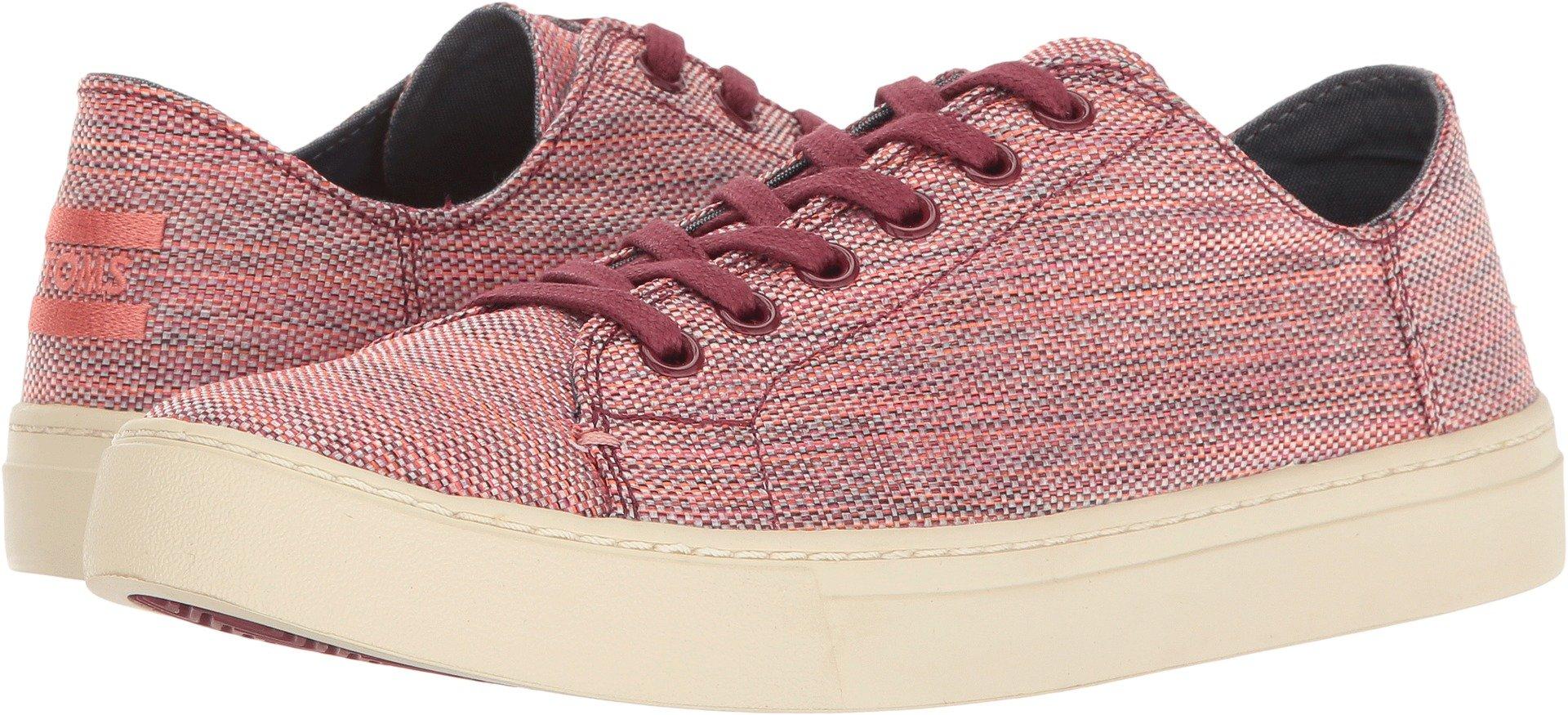 TOMS Women's Lenox Sneaker Pomegranate Woven Melange Oxford