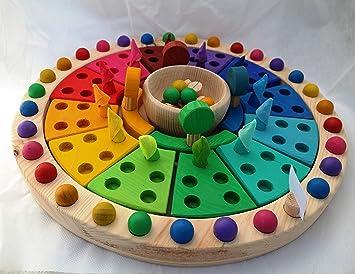 Calendario Montessori.Ludimat Calendario Montessori Waldorf Anual Apilable