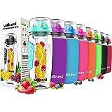 Fruit Infuser Water Bottle 32oz Willceal- Durable, Large - BPA Free Tritan, Flip Lid, Leak Proof Design - Sports…