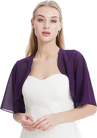 Leimandy Chiffon Bolero for Evening Dresses Women's Chiffon Shrug Bolero Cardigan Wide Sleeve