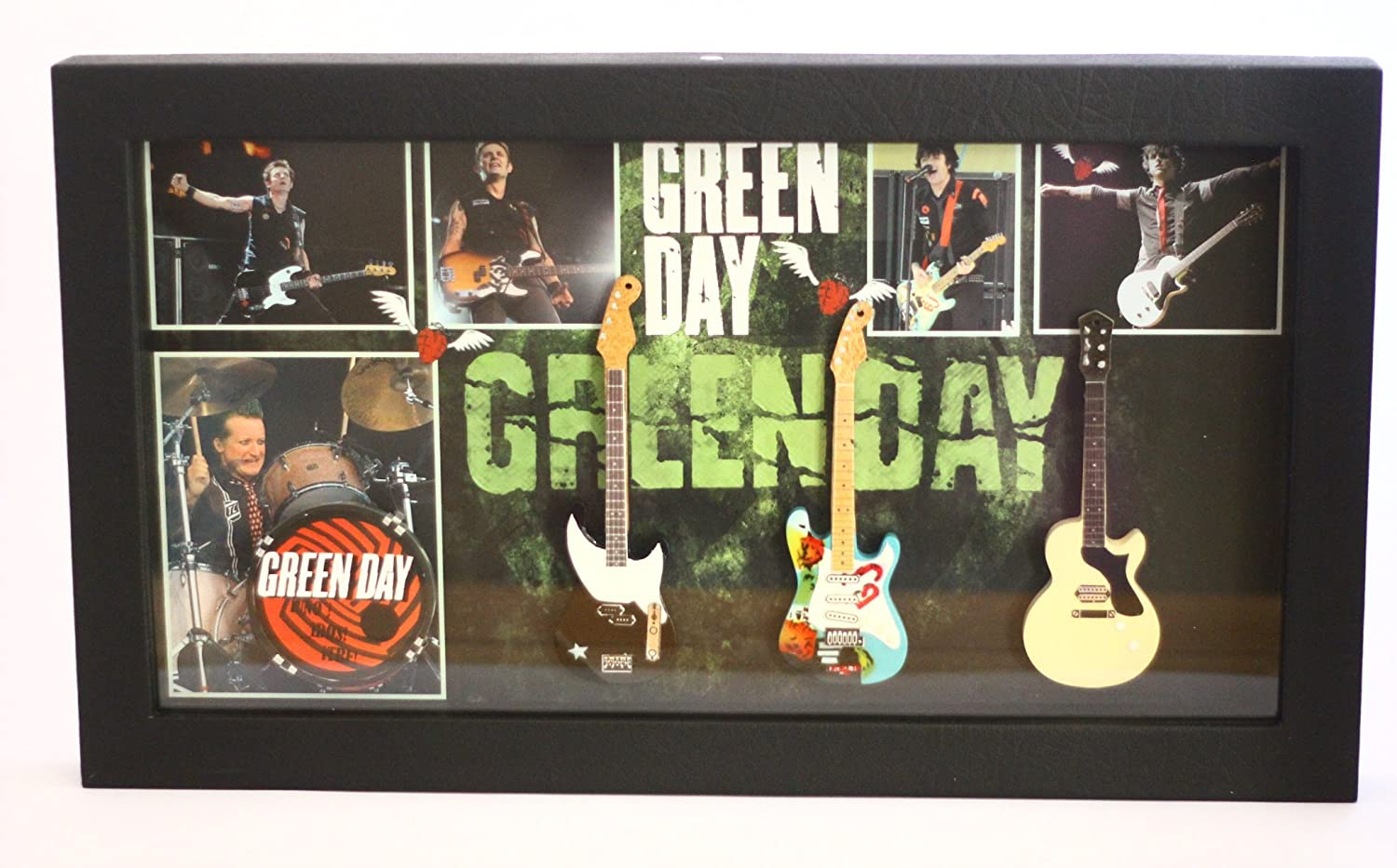 rgm802 Green Day miniatura Guitar Collection in Shadowbox Frame