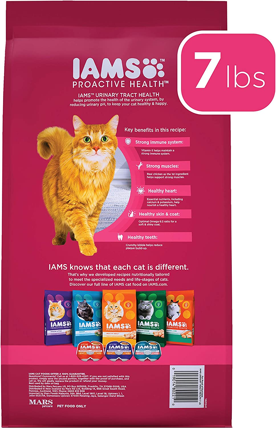 Amazon Com Iams Proactive Health Adult Urinary Tract Health Dry Cat Food With Chicken Cat Kibble 7 Lb Bag Pet Supplies