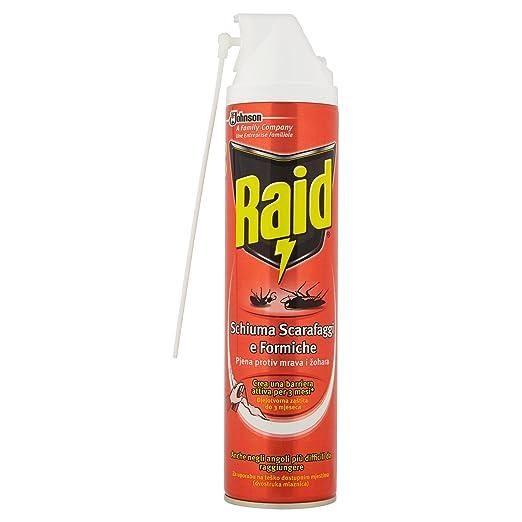 13 opinioni per Raid Scarafaggi e Formiche Schiuma Attiva Spray- 400 ml