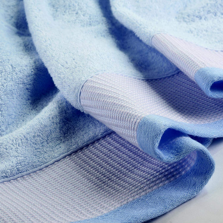 60x110 cm Effetto Velluto Colori Multipli Caleffi Asciugamano Trendy in Spugna di Cotone Morbido Super Assorbente Azzurro