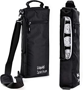Liquid Spectrum Golf Cooler Bag - Soft Insulated Cooler Holds 6 Cans of Beer/Soda or 2 Bottles of Wine | Includes Detachable Shoulder Strap for Golfers | Golf Accessories for Men