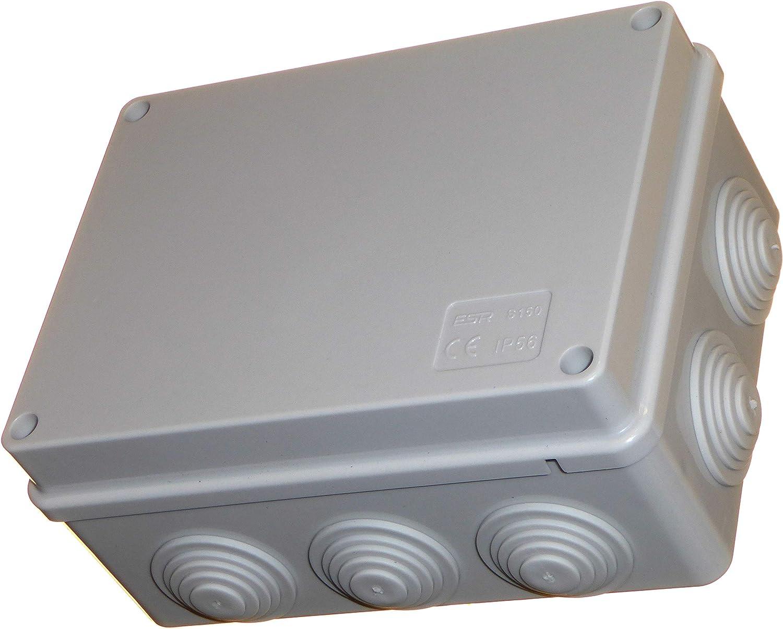 Caja de conexiones de 150 mm con ojales impermeables IP56, carcasa de plástico PVC adaptable, cable de iluminación para exteriores, conexión eléctrica: Amazon.es: Bricolaje y herramientas