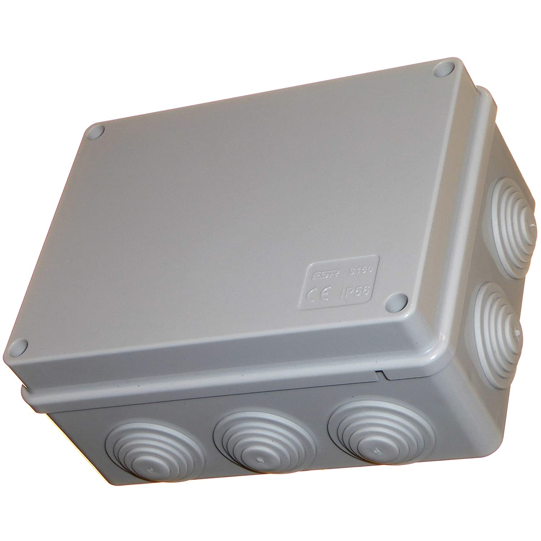 R SODIAL 230mmx150mmx85mm Caja de conexion de potencia Caja de corteza de plastico impermeable