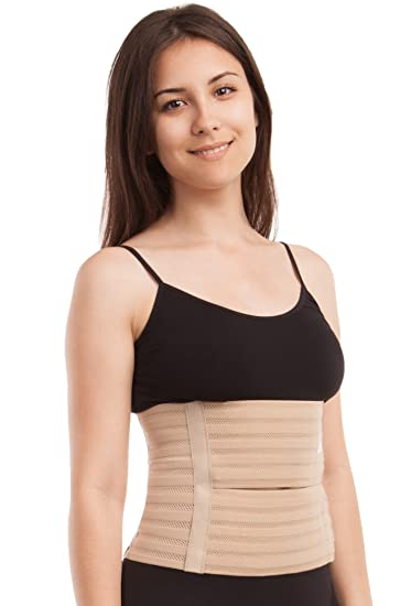 1fa50407fc554 Image Unavailable. Image not available for. Color  GABRIALLA AB-309(W)  Breathable Abdominal Support ...