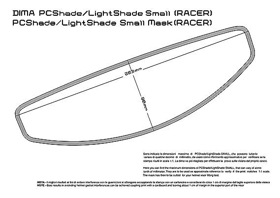 raleri inserto Antifog ligtshade Fogstop 100sec. Dark/oscuro Small 263 x 80 mm: Amazon.es: Coche y moto