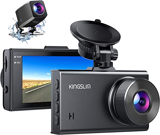 Amazon.com: Kingslim D2 2.5K Dual Dash Cam, 1440P&1080P Front and Rear Camera for Cars 170 Degree Driving Recorder with Sony Starvis Sensor Night Vision G-Sensor Parking Mode Support 128GB Max: Car Electronics