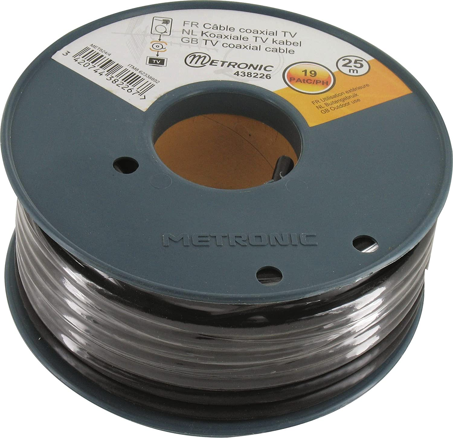 Metronic 438226 Coaxial Cable Coil Roll 25 m Shielded: Amazon.co.uk ...
