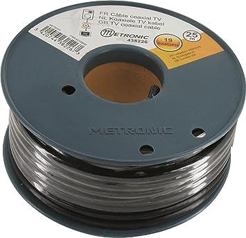 Metronic 438226 - Cable coaxial apantallado en bobina (25 m)