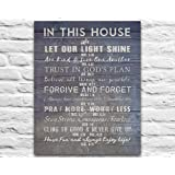 In This House Photo Print - Christian Bible Verse Family Rules ART, Scripture inspirational wall & home decor poster UNFRAMED poster, Housewarming gift, 8x10 inches