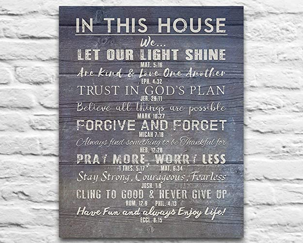 Amazoncom In This House Photo Print Christian Bible Verse Family