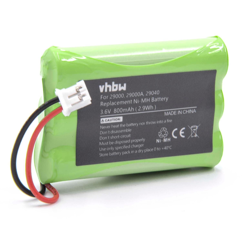 vhbw NiMH Batteria 800mAh (3.6V) per Baby Phone, Baby Monitor Motorola MBP11, MBP33, MBP34, MBP36, MBP36PU, MBP36SC VHBW4251358551829