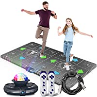 Dance Mat for Kids and Adults,Musical electronic dance mat, Double User dance floor mat with Wireless Handle, HD Camera Game Multi-Function Host, Non-Slip Massage Dance Pad, HDMI Interface for TV