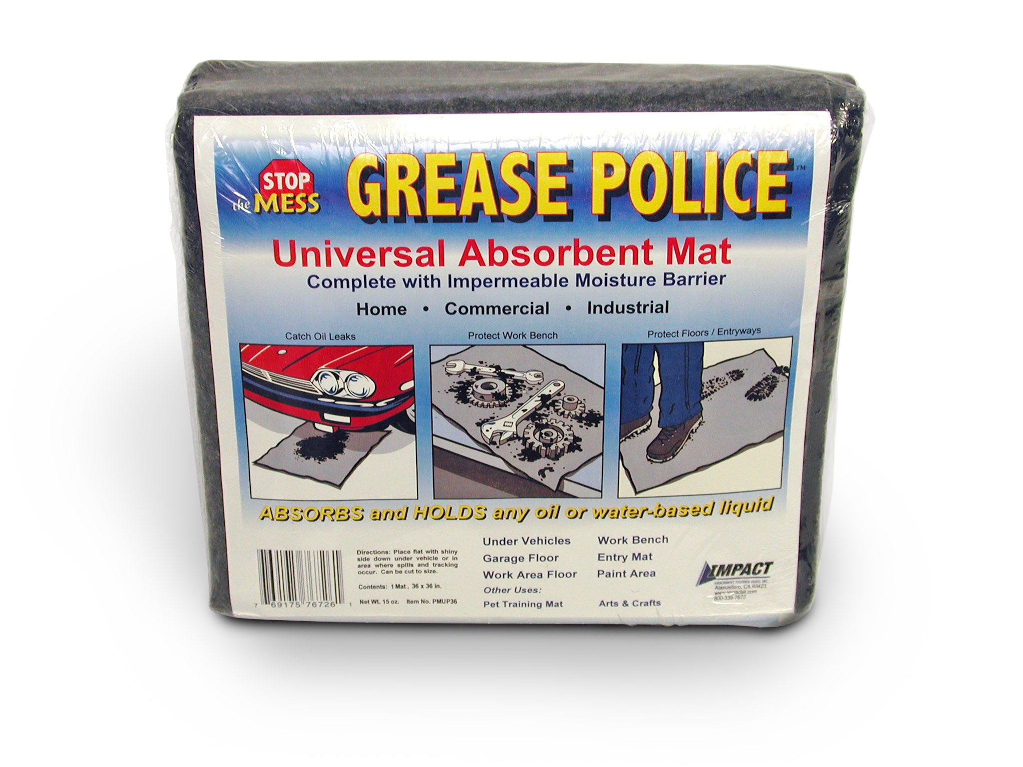 Grease Police Universal Poly-Backed Mat (Case of 6) by Impact