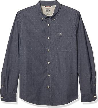 Dockers Men's Long Sleeve Alpha Icon Button Down Shirt