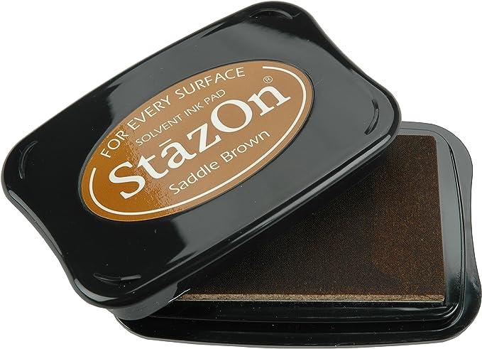 Image of Tsukineko Stazon–Almohadilla para Sellos, Color marrón Claro