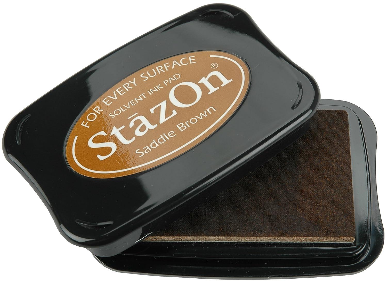 Saddle Brown Tsukineko Full-Size StazOn Multi-Surface Inkpad