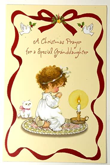 Amazon christmas card for granddaughter a christmas prayer for christmas card for granddaughter a christmas prayer for a special granddaughter pk of 2 m4hsunfo