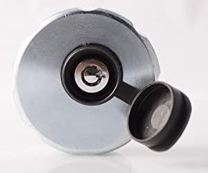"""Flow Security Systems   Locking Filler Cap with Female Adapter   Designed to Secure Stationary Storage Tanks   Breathable Cap   Free Spinning Locking Design   2"""" NPT Cap   FSS 720"""