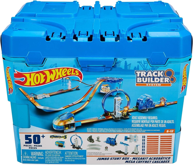 Hot Wheels Track Builder Jumbo Stunt Box Constructor de Pistas 50+ ...