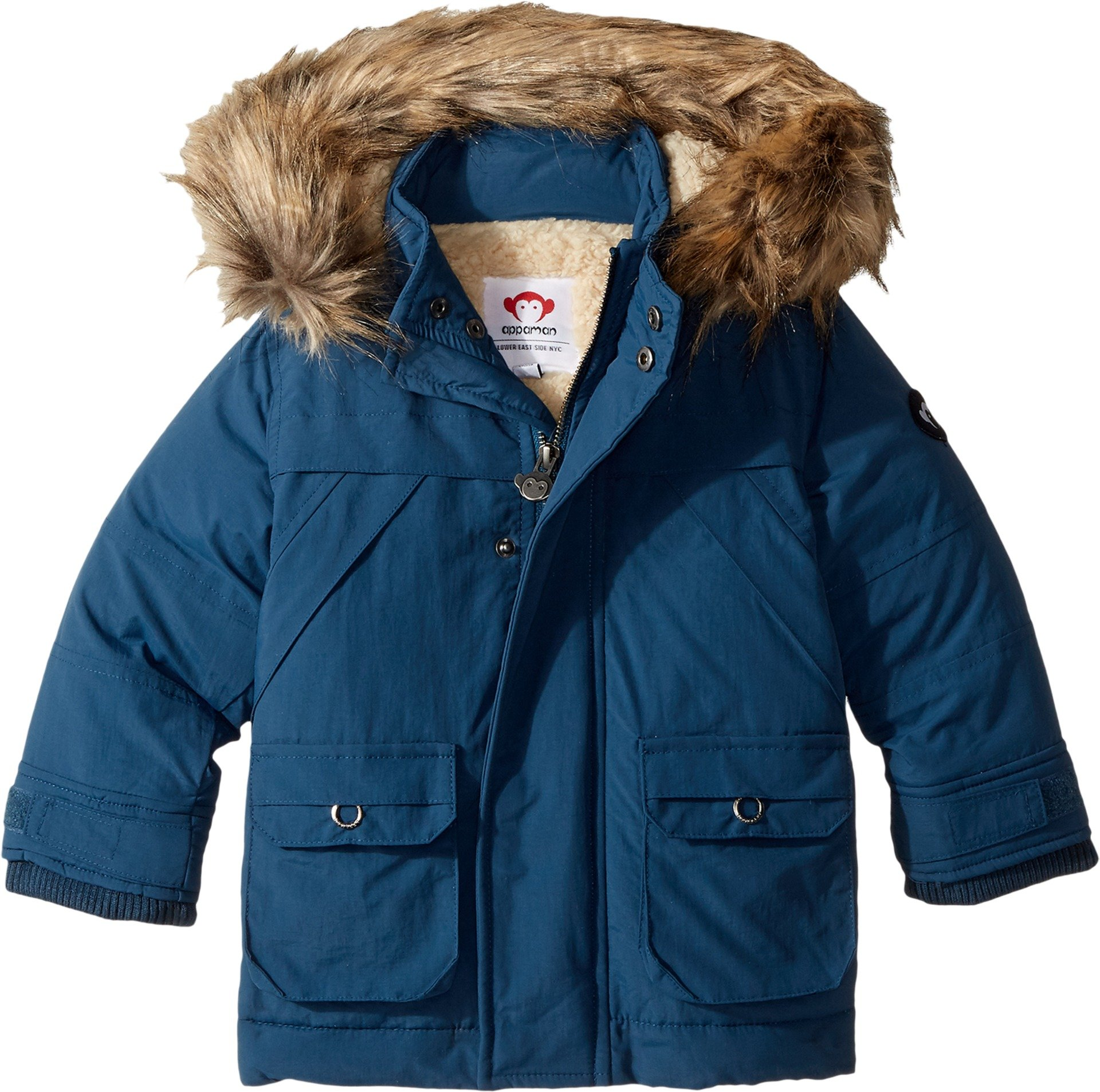Appaman Kids  Baby Boy's Denali Down Coat (Toddler/Little Kids/Big Kids) Denim Blue 12 by Appaman Kids