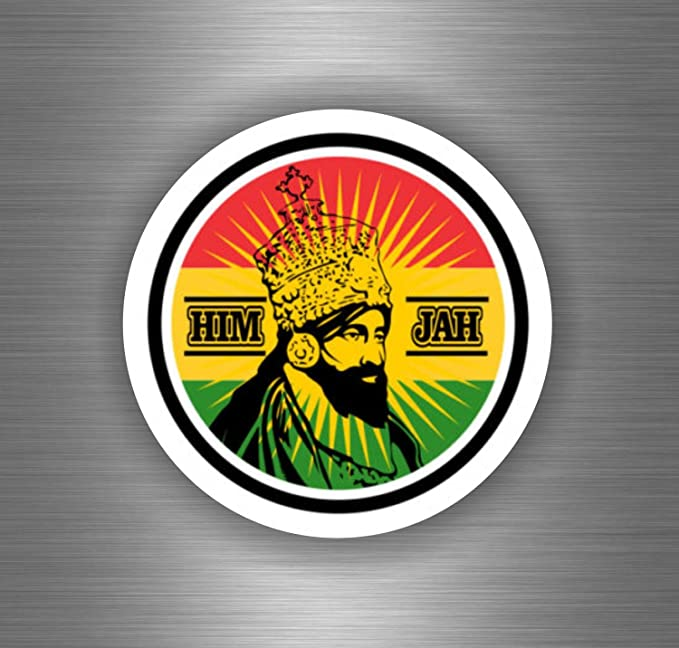 Akachafactory Selbstklebender Auto Sticker Rasta Reggae One Love Löwe Jamaikanische Flagge Ref20 Auto