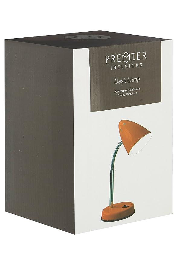 Premier Housewares - Flexo de mesa de luz blanca: Amazon.es ...