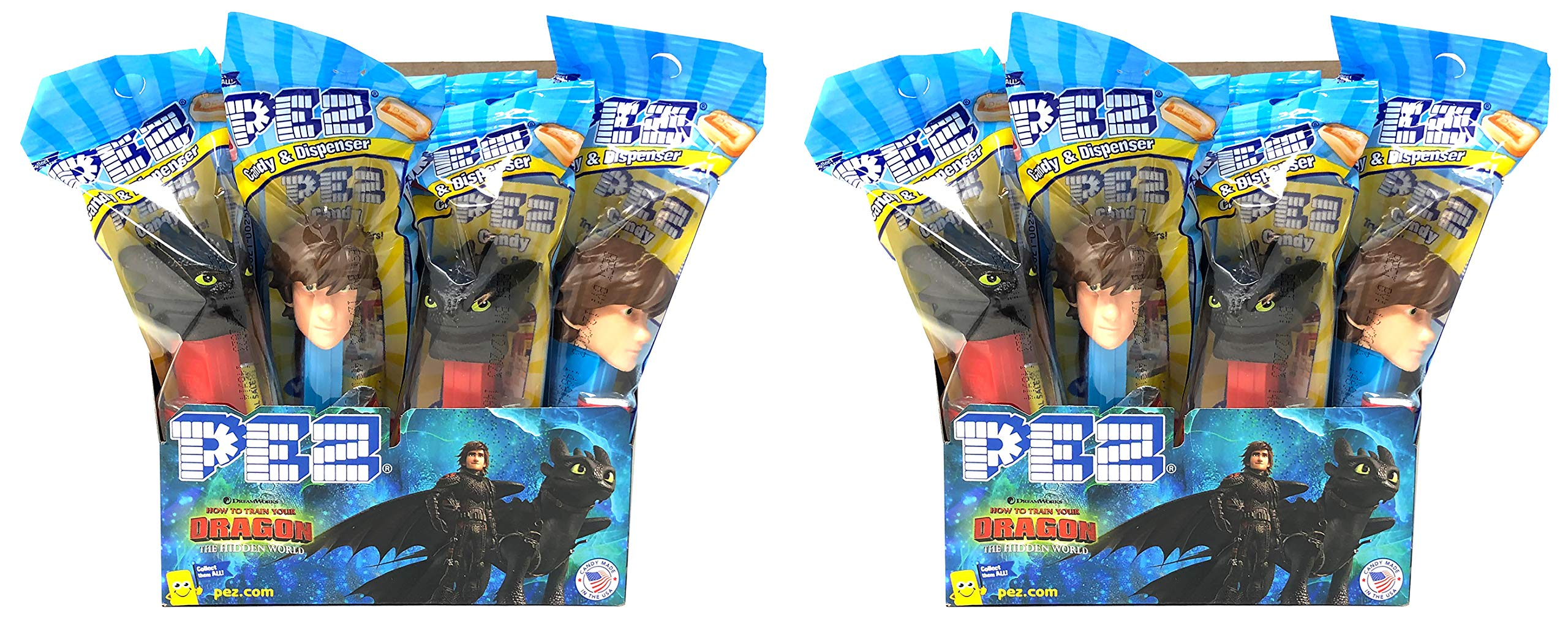 Pez How to Train Your Dragon Candy Dispensers Individually Wrapped Candy and Dispensers with Tru Inertia Kazoo (24 Pack) by Tru Inertia