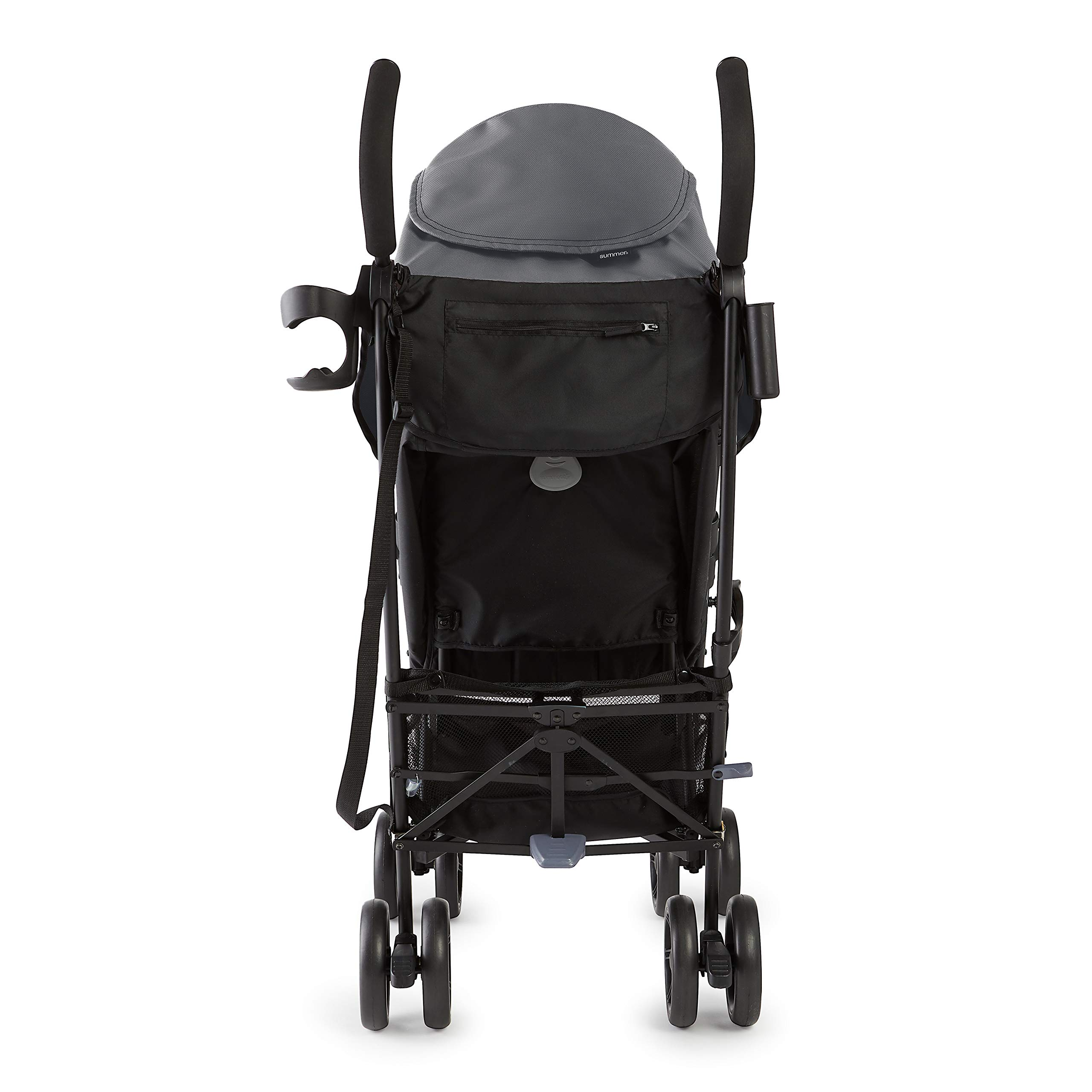 Summer 3Dlite+ Convenience Stroller, Matte Gray - Lightweight Umbrella Stroller with Oversized Canopy, Extra-Large Storage and Compact Fold by Summer Infant (Image #2)