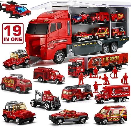 【MATERIAL SEGURO Y CONFIABLE】Es un set de vehículos de juguetes que está hecho de plástico resistent