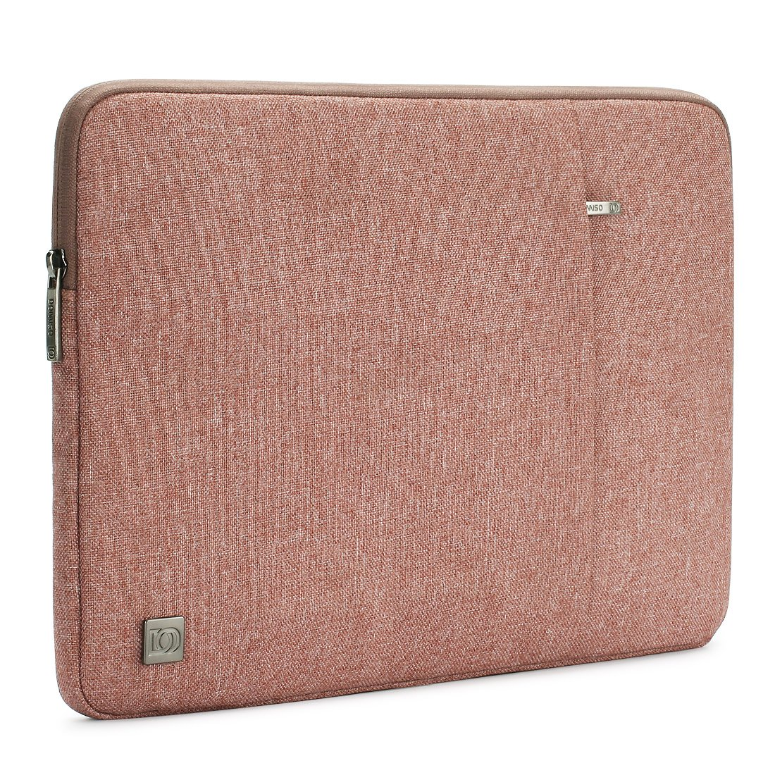 DOMISO 13.3 Inch Water-Resistant Laptop Sleeve Carrying Case Bag for 13'' MacBook Pro / 13.5'' Microsoft Surface Book / 13.3'' Notebook, Pink