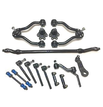 partsw 15 PC Kit de suspensión para Chevrolet GMC centro enlace ajustar mangas Tie Rod Ends ...