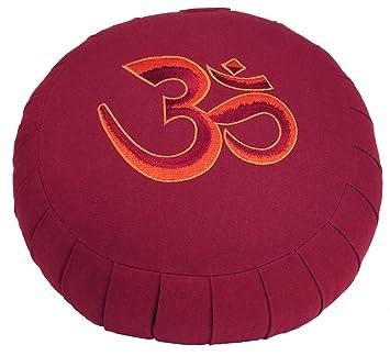 Bodhi Yoga ZAFU BASIC - Cojín de meditación con bordado de ...