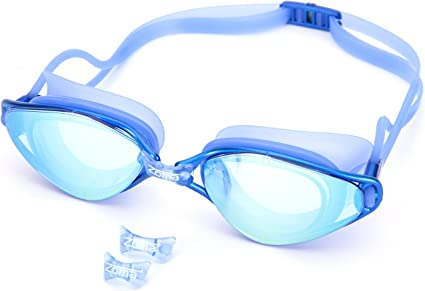 1pcs//2pcs Goggles with Earplugs Nose and Case YUELANG Professional Swimming Goggles Swimming Glasses Anti-UV Anti-Fog Electroplating Adjustable Strap for Unisex Adult Men Women Youth Kids Children