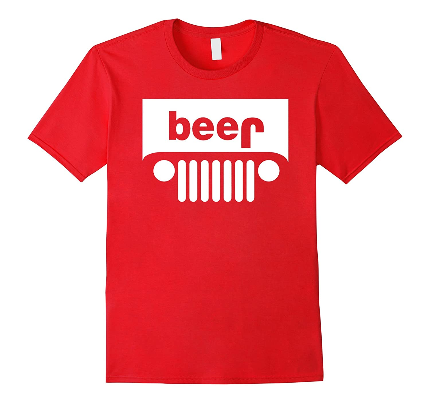 Funny T-Shirt - Beer Alcohol Jeep 4x4 Drinking Tee-CD