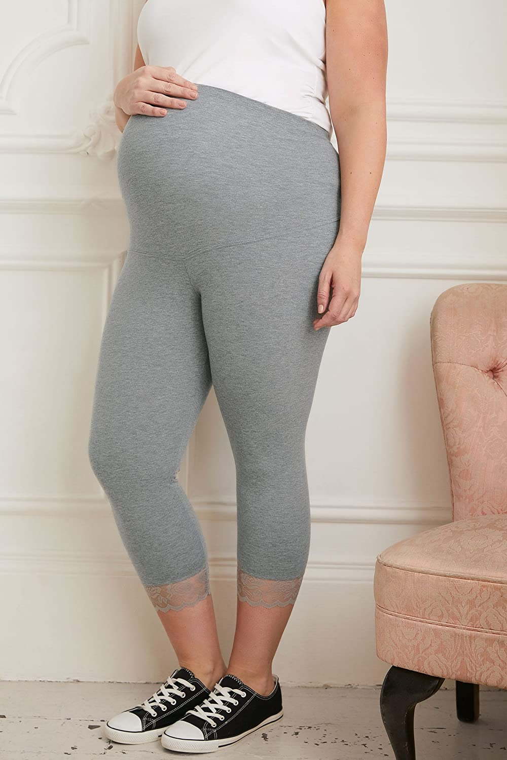 Yours Womens Plus Size Bump It Up Maternity Cropped Leggings with Comfort Panel and L