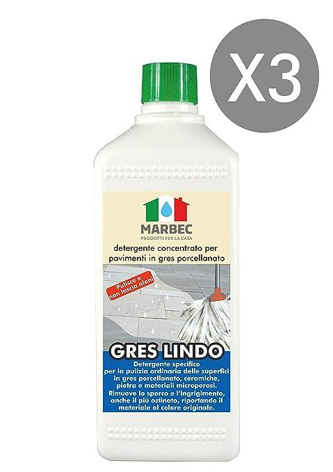 Marbec - Gres Lindo 1lt x 3pz | Limpiador Concentrado específico para Suelos en gres porcelánico