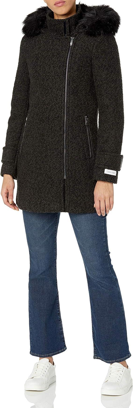Calvin Klein 卡尔文克莱因 CK 女式连帽羊毛呢大衣外套 1.6折$32.49起 海淘转运到手约¥327